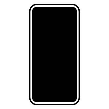 Black smartphone vector template on white background