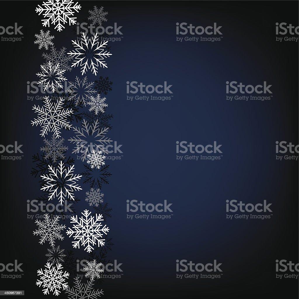 black snow background vector art illustration