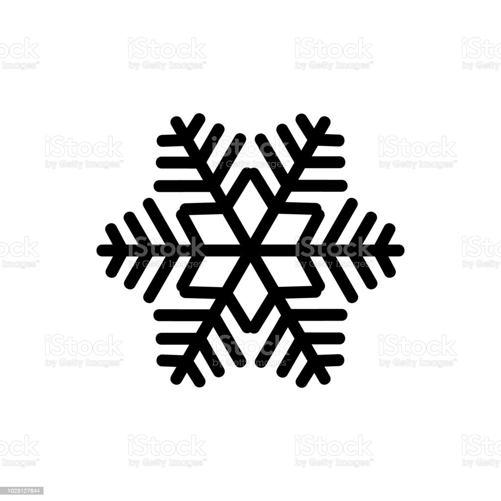 black snowflake isolated on white background snowflake icons snowflake for design christmas and new