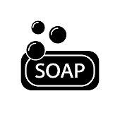 Black Soap Flat Vector Icon Sign Symbol