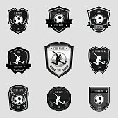 Black soccer emblems