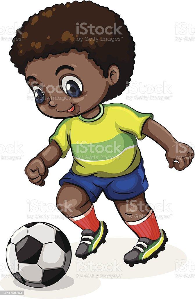 Black soccer player royalty-free stock vector art