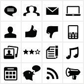 Black Social Network/blog Icons