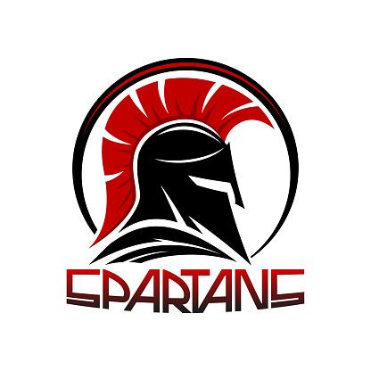 Black spartan helmet.