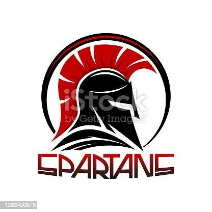 istock Black spartan helmet. 1263400678
