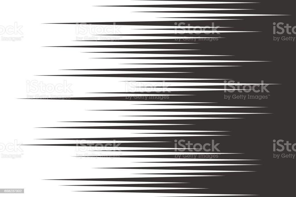 Horizontal Line Art : Black speed horizontal lines stock vector art more images of