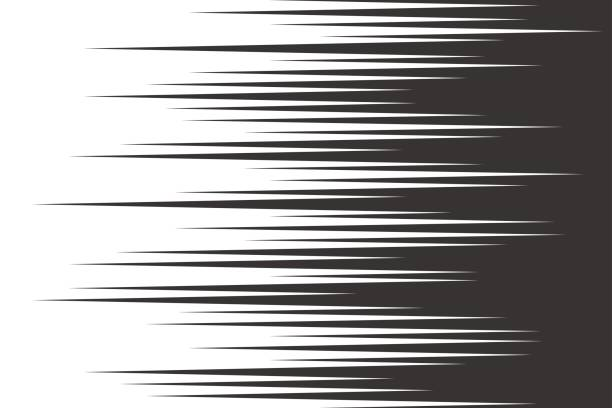 Black speed horizontal lines vector art illustration