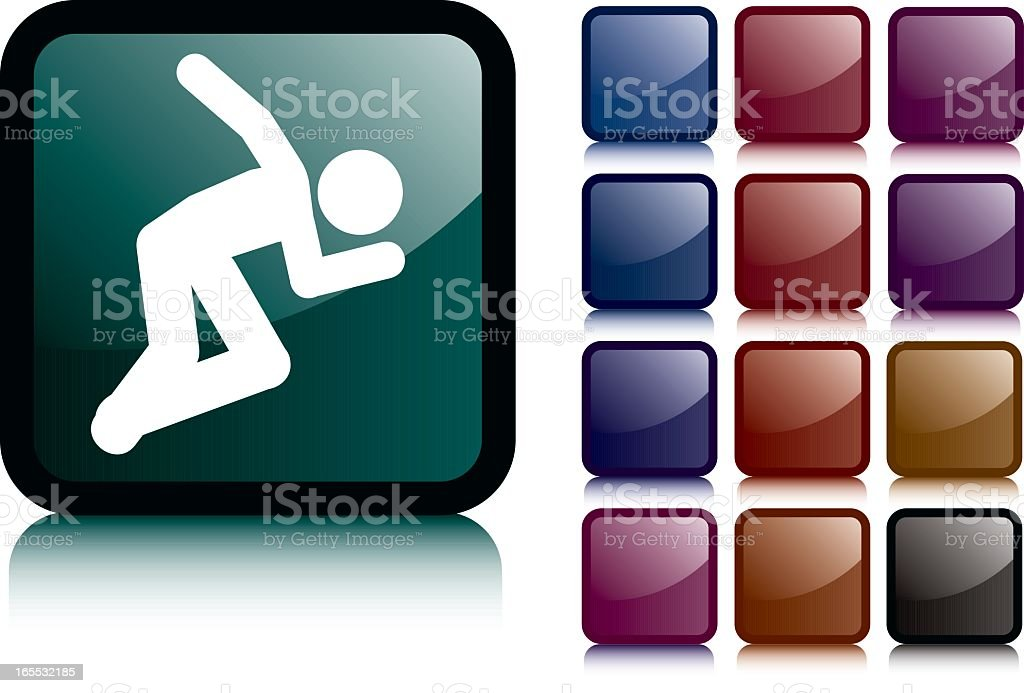 Black Sprinting Man Icon royalty-free black sprinting man icon stock vector art & more images of black color