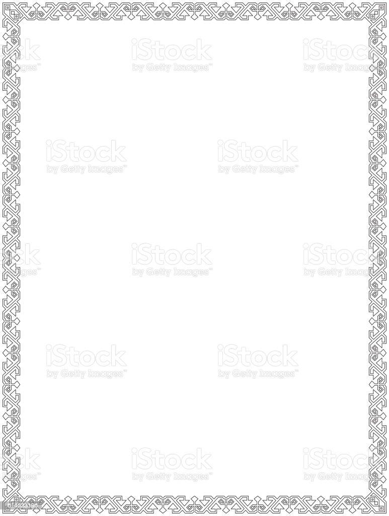 Black Square Frame Geometric Shapes Outlines Letter Size