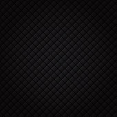 Black square pattern. Luxury sofa background and texture.
