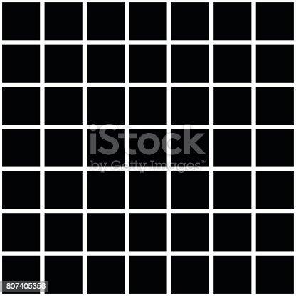 istock Black square tiles texture 807405356