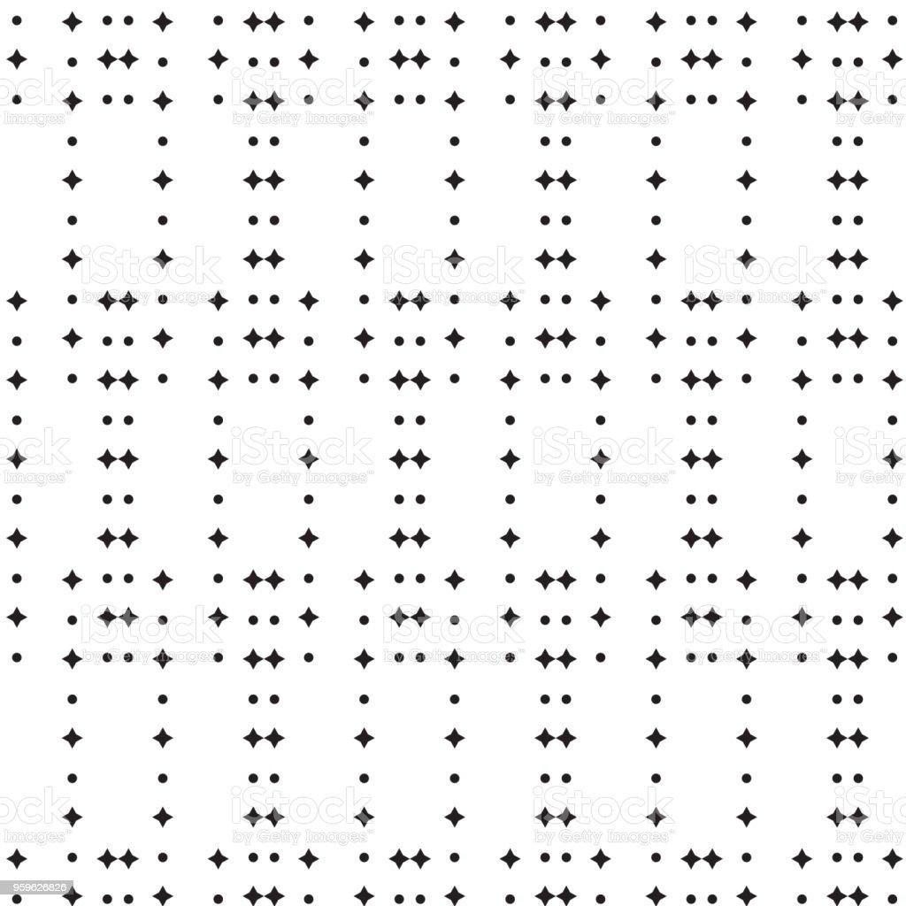 línea negra de la estrella y círculo Cruz fondo rayas - arte vectorial de A la moda libre de derechos