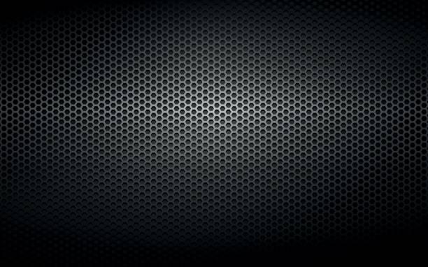 black steel metal plate background vector art illustration