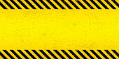 istock Black Stripped Rectangle on yellow background. Blank Warning Sign. Warning Background. Template. Vector illustration EPS10. 1200541537