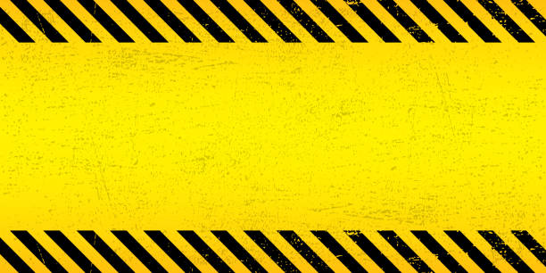 Black Stripped Rectangle on yellow background. Blank Warning Sign. Warning Background. Template. Vector illustration EPS10. Black Stripped Rectangle on yellow background. Blank Warning Sign. Warning Background. Template. Vector illustration EPS10. safety stock illustrations