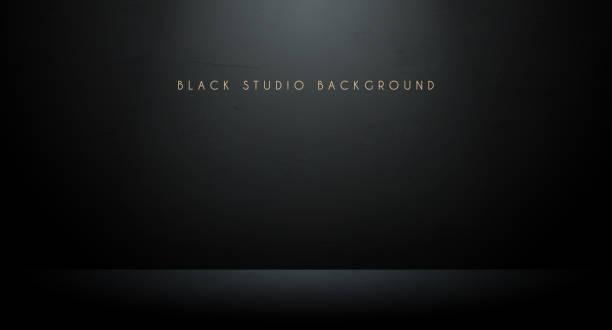 czarne tło studyjne - ciemny stock illustrations