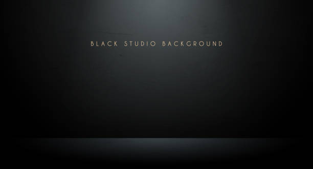 Black studio background Black studio background in vector for sale stock illustrations