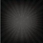 Black Sunburst Retro Poster