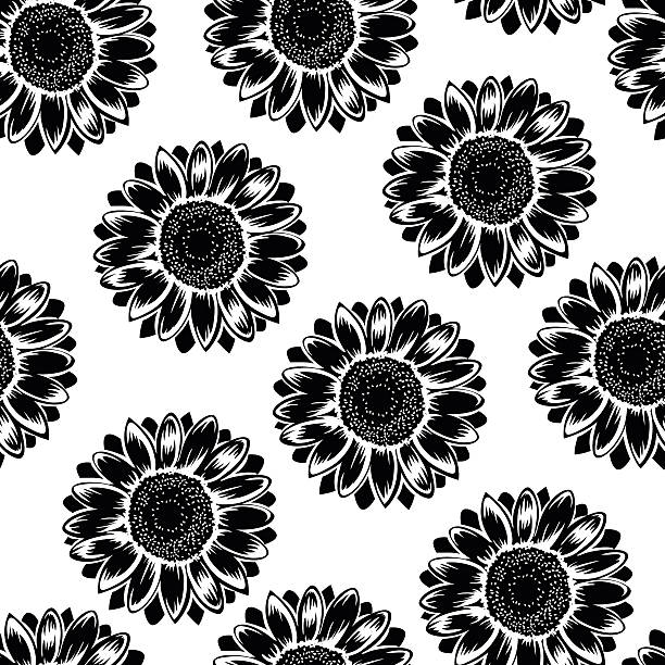 Royalty Free Seamless Pattern With Black And White ...
