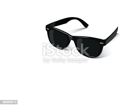 simple vector illustration of retro black sunglasses; Eps8; no transparency effects were used;  zip includes aics2, high res jpg
