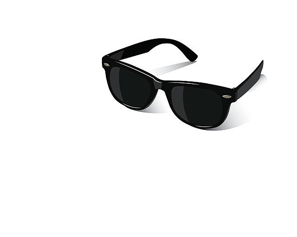 black sunglasses on a white background - sunglasses stock illustrations, clip art, cartoons, & icons