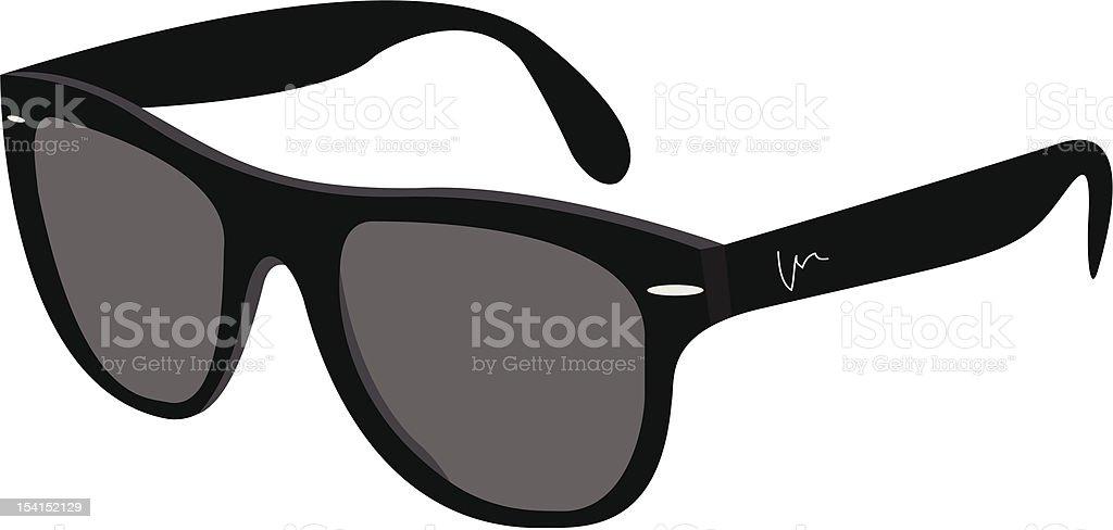 Black Sunglasses royalty-free stock vector art