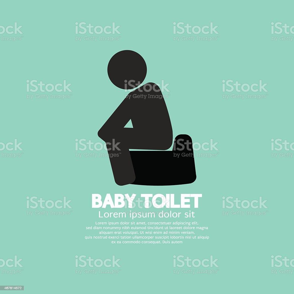 Black Symbol Baby Toilet vector art illustration
