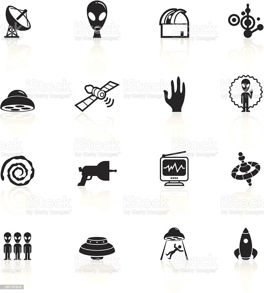 Black Symbols - Alien Contact vector art illustration