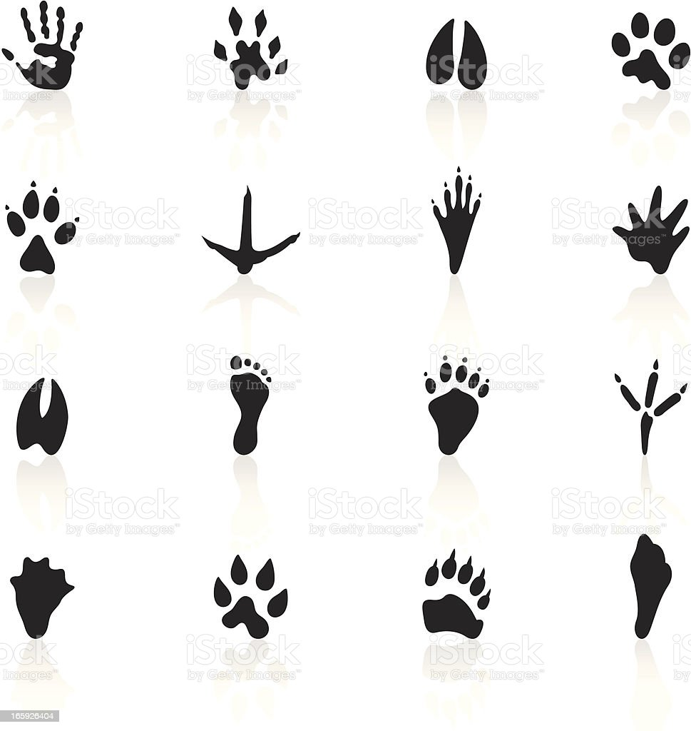 Black Symbols - Animal Tracks royalty-free stock vector art