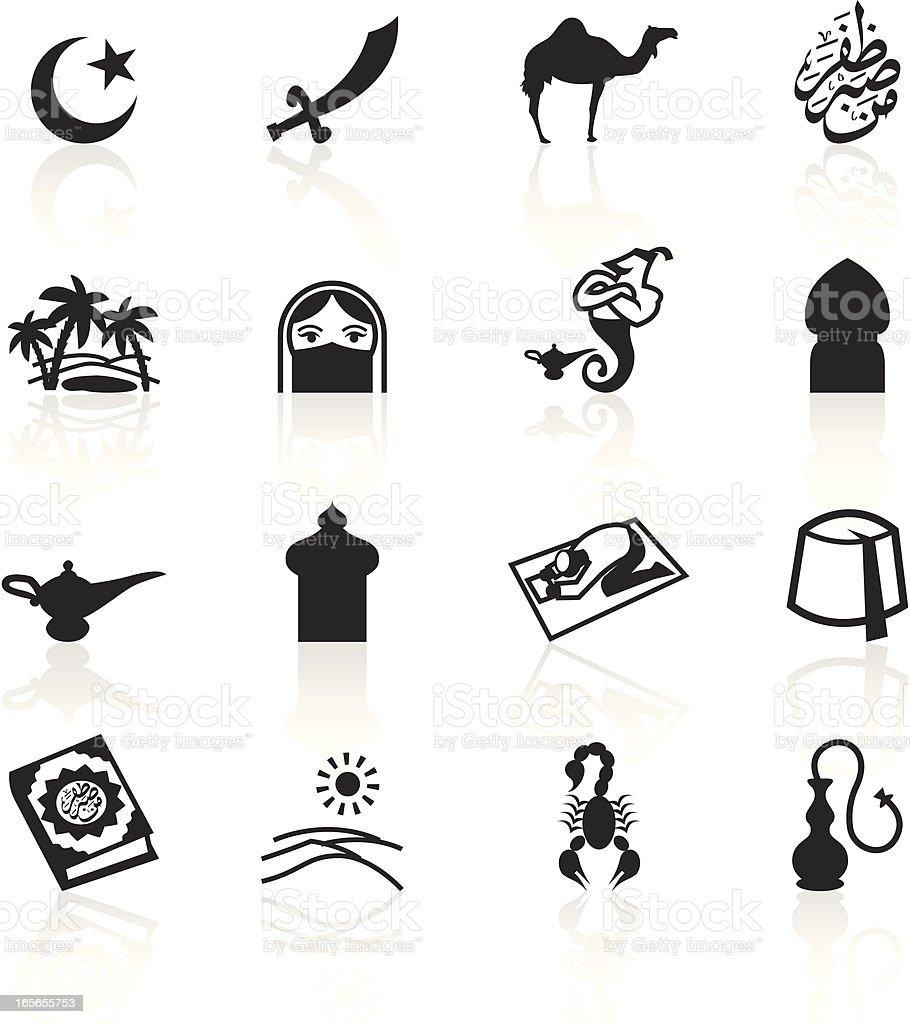 Black Symbols - Arabian vector art illustration