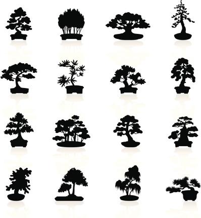 Black Symbols - Bonsai Trees