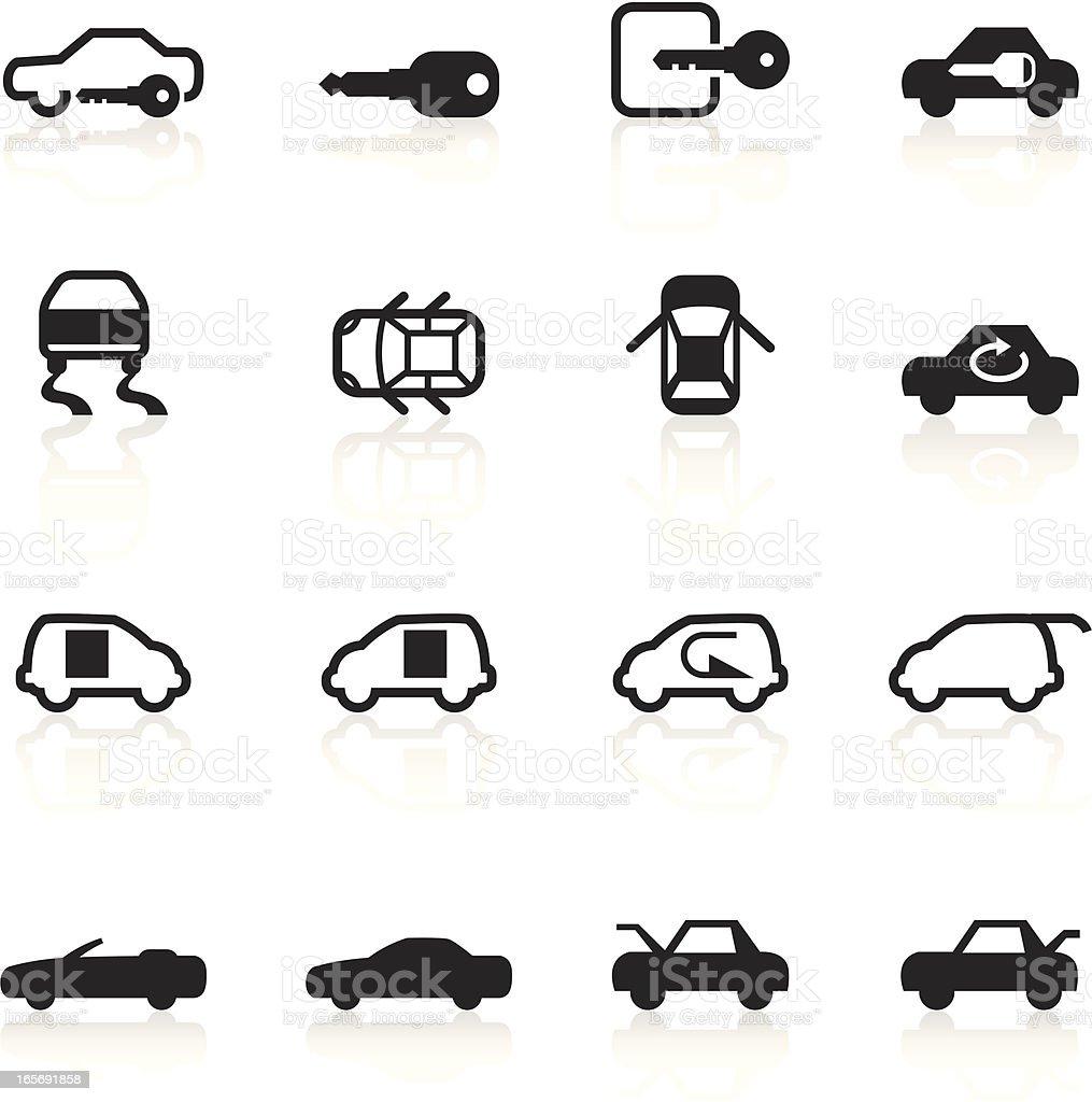 Black Symbols Car Control Indicators Stock Vector Art
