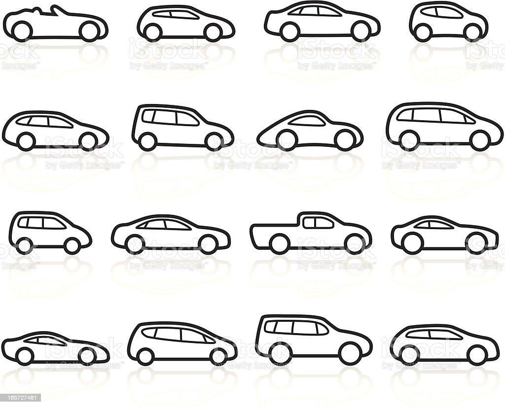 Black Symbols - Cars royalty-free stock vector art