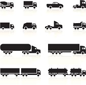 Black Symbols - Cartoon Trucks