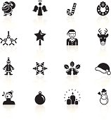 The icons were created using flat shapes, and the reflections underneath were created using linear gradients.