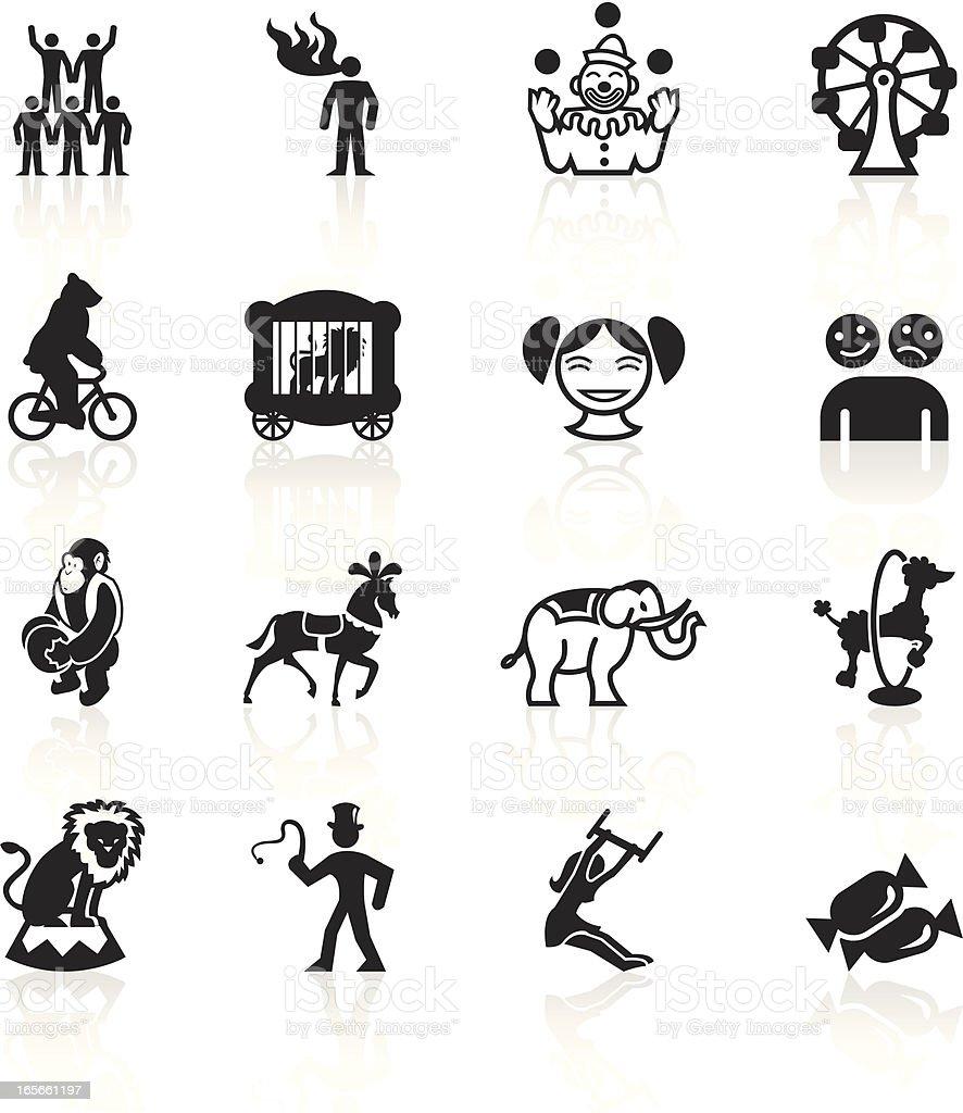 Black Symbols - Circus royalty-free stock vector art