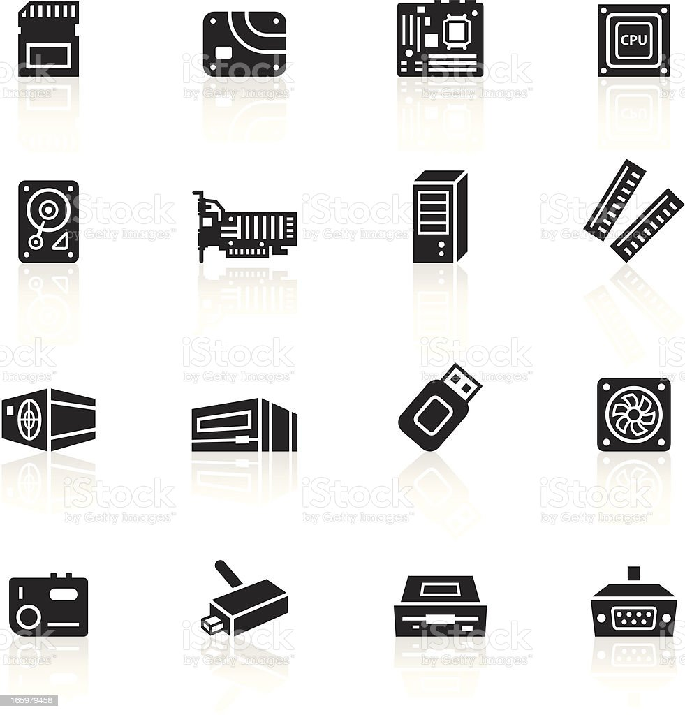 Black symbols computer parts stock vector art more images of black symbols computer parts royalty free black symbols computer parts stock vector art amp biocorpaavc Images