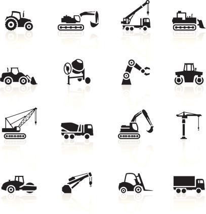 Black Symbols - Construction Machines