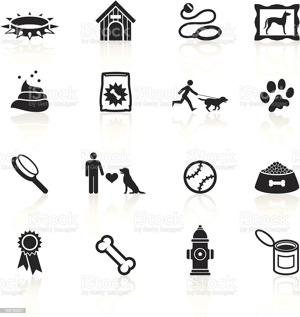 Black Symbols - Dog royalty-free stock vector art