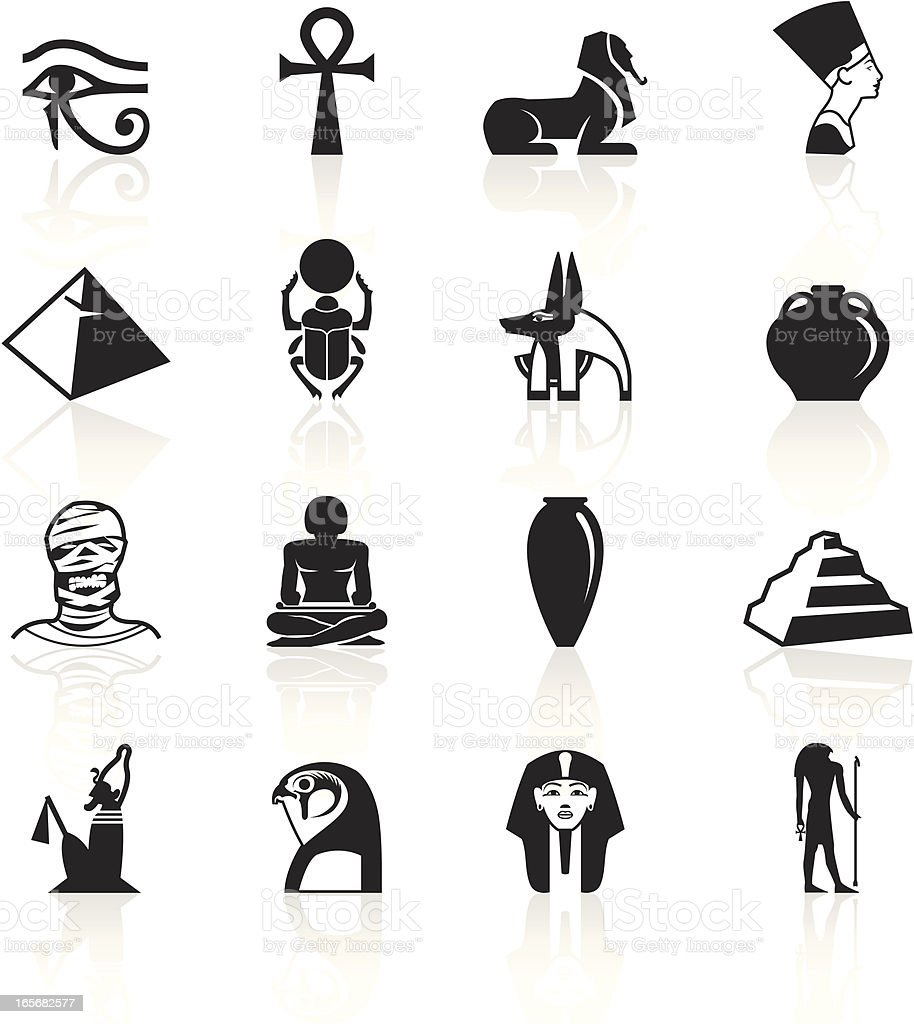 Black Symbols - Egypt royalty-free black symbols egypt stock vector art & more images of amphora