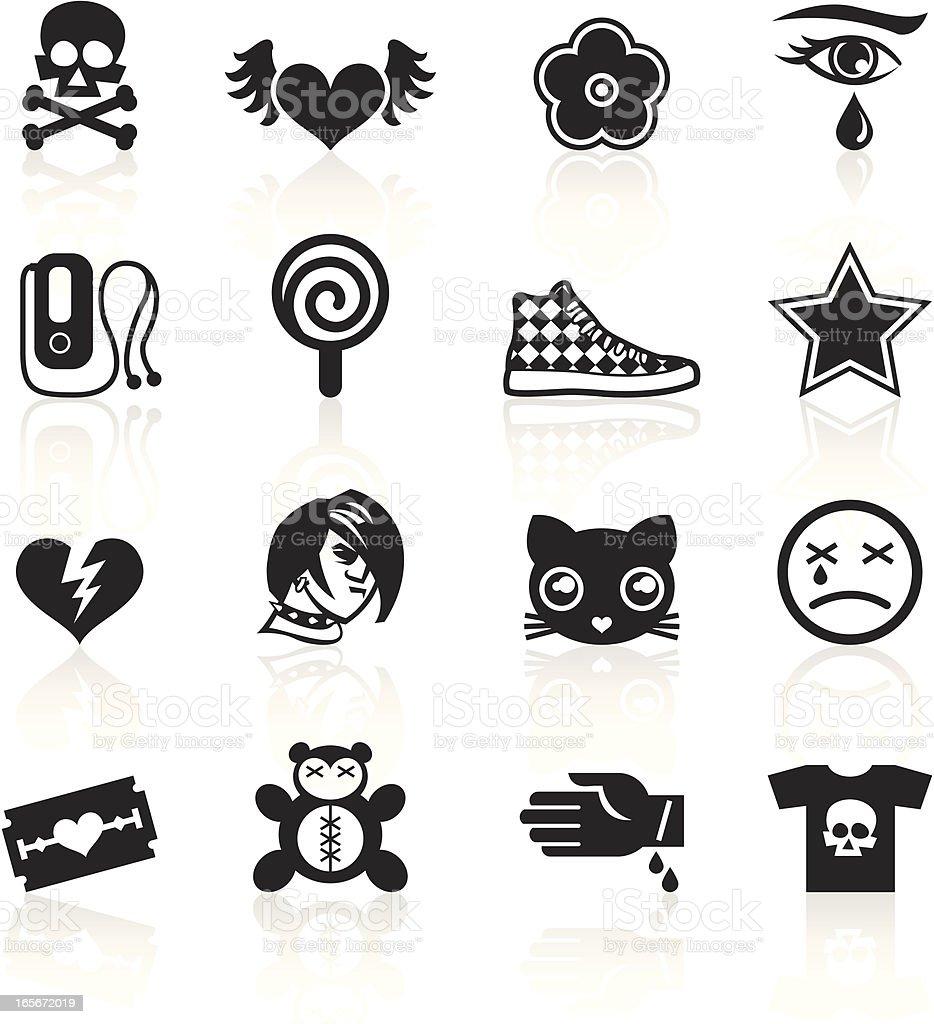 Black Symbols - Emo vector art illustration