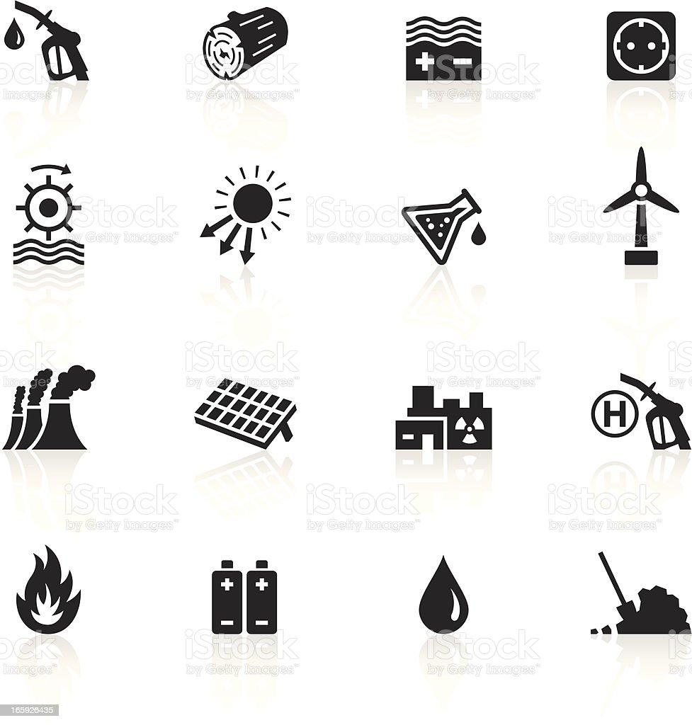 Black Symbols Energy Sources Stock Vector Art & More ...