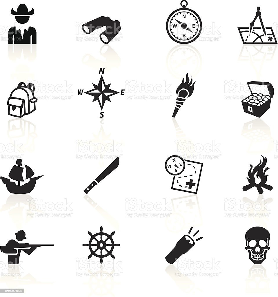 Black Symbols - Exploration royalty-free stock vector art