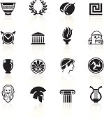 Greece culture icons.