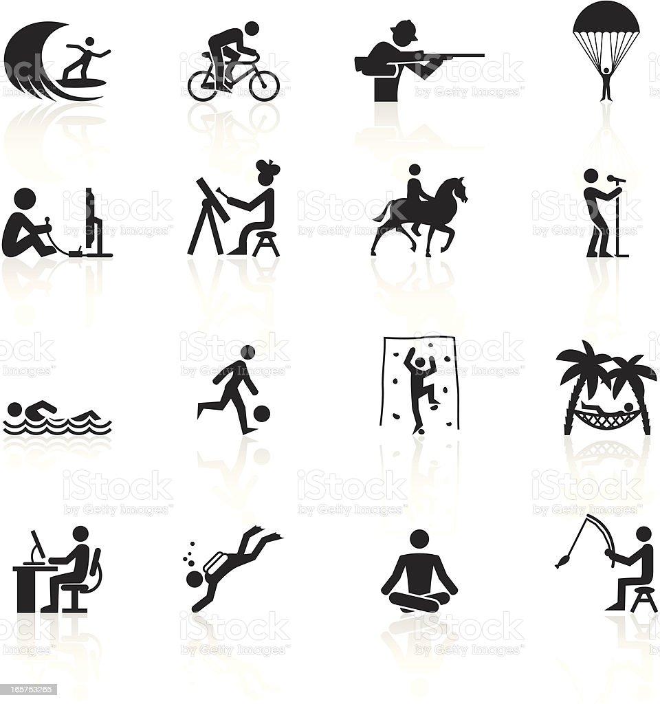 Black symbols hobbies stock vector art more images of airborne black symbols hobbies royalty free black symbols hobbies stock vector art amp more biocorpaavc
