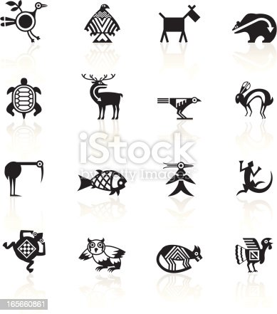 Indian Tribal Animals icons.