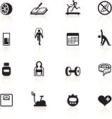 Loosing weight related icons.