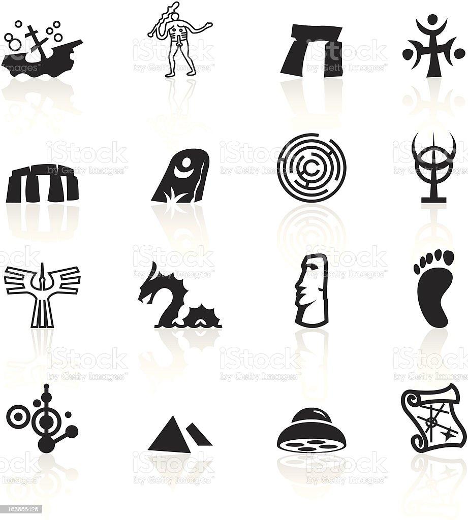 Black Symbols - Mysteries vector art illustration