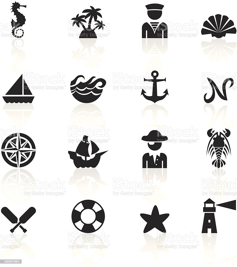 Black Symbols - Nautical royalty-free stock vector art