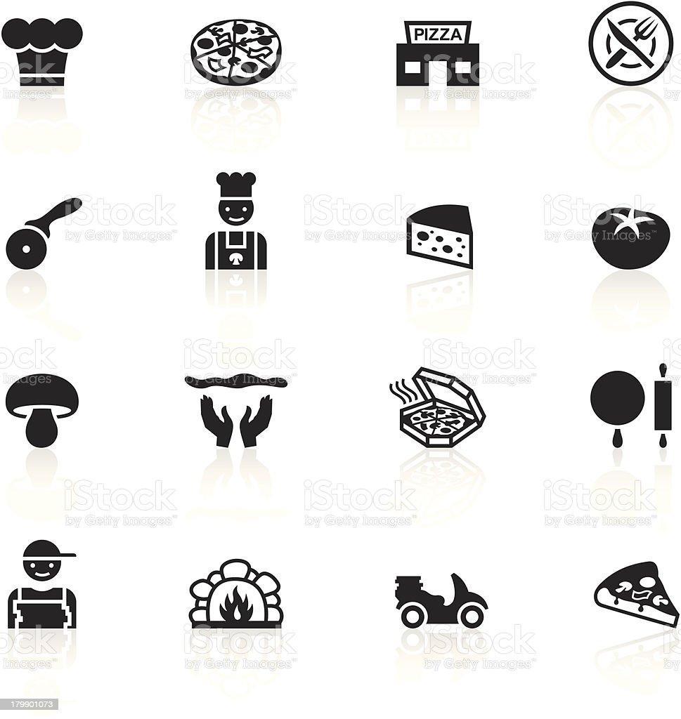 Black Symbols - Pizzeria royalty-free stock vector art
